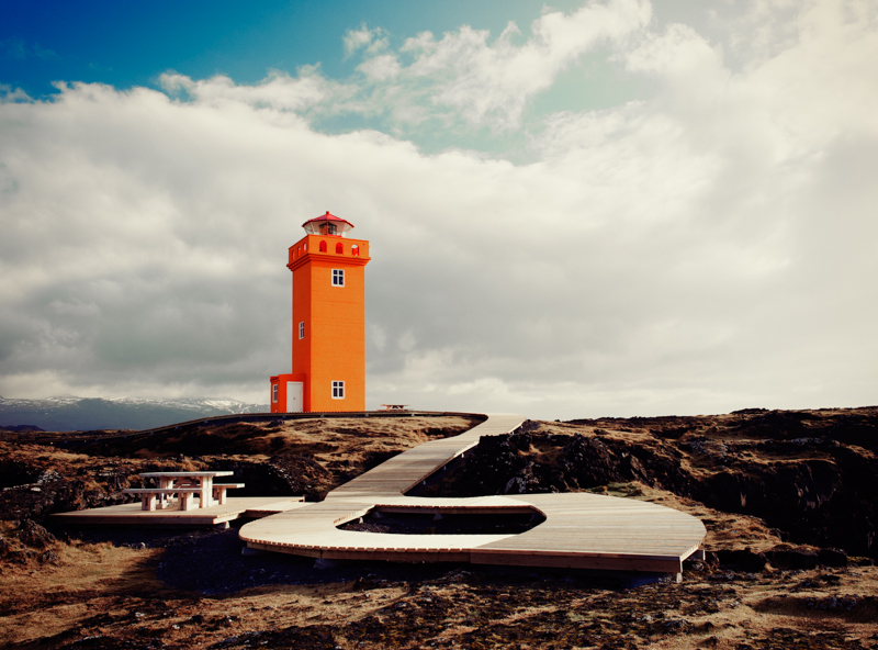 Lighthouse at Ondvertharnes, Iceland