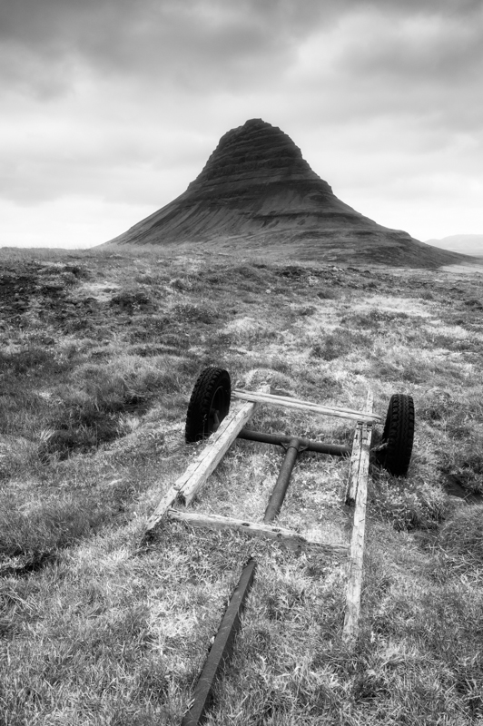 Old cart below Kirkufjell, Snaefellsness Peninsula, Iceland