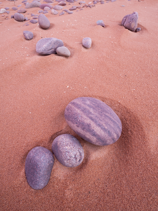 Boulders on Red Point beach