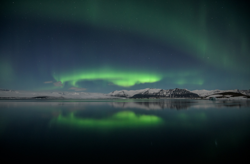 Northern Lights,  Jokulsarlon, Iceland