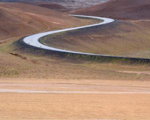 Road near Hverir, Iceland