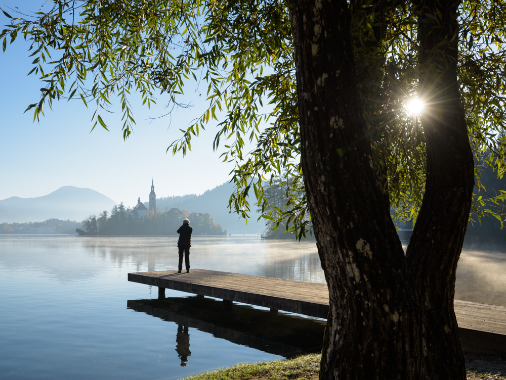 Visitors to Lake Bled, Slovenia