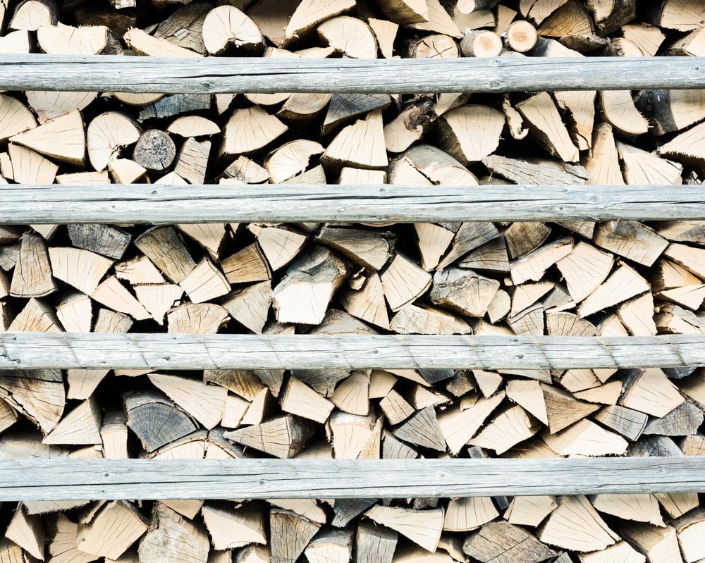 Log stack, Kamnje, Slovenia