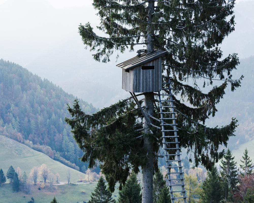 Shooting tower near Sorica, Slovenia