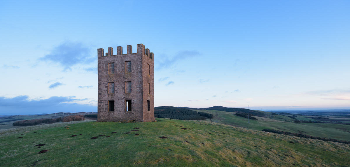 Old observatory, Kinpurnie Hill, Angus, Scotland